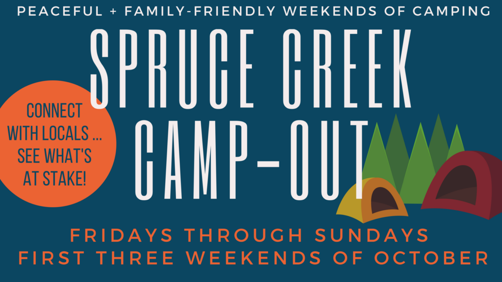 Spruce Creek Camp out logo